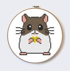 Buy 2 Get 1 Free Little Hamster modern cross by MilaliParade