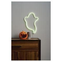 Halloween Faux Neon Pure White Ghost Silhouette with LED Bulbs - Hyde and Eek! Halloween Scene, Halloween Decorations, Halloween Ideas, Halloween Party, Ghost Silhouette, Creepy Ghost, Christmas String Lights, White Led Lights, Sculpture