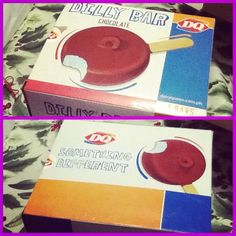 Food Adventure! :p A box of HAPPINESS. :D Dilly Bar. ;) #favorite #dairyqueen #happiness