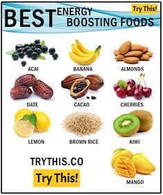 10 Best Energy Boosting Foods