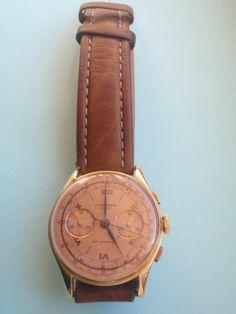 1940 CHRONOGRAPHE SUISSE Vintage 18k RG Chronograph Watch Landeron Cal 248