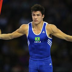 Olimpíadas 2016: top 10 atletas mais guapos dos jogos: Arthur Nory, 22 anos - Ginástica artística - Brasil Arthur Nory, Arthur Mariano, Moda Academia, Perfect Posture, Boy Tattoos, Gym Style, Athletic Men, Olympians, Handsome Boys