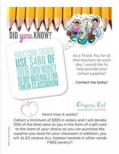Contact me today to setup a Fundraiser for your class. charlottediaz.origamiowl.com https://www.facebook.com/designercharlotte