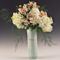 Mud Art: Crystalline Matte Glazed Porcelain Vase, Tall