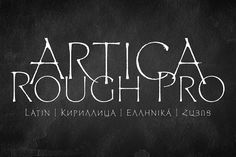 Artica Rough Pro by Green Type on @creativemarket