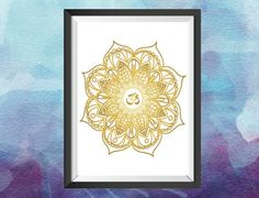 Real foil gold wall art print in white and gold Mandala by GlitzyPrints on Etsy Gold Drawing, Gold Wall Art, Office Prints, Personalised Prints, Mandala Print, Gold Foil Print, Unique Wall Art, Wall Art Prints, A4