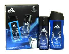 Adidas 2 piece champions league gift set Shower Gel, Champions League, Deodorant, Chemistry, Health And Beauty, Household, Fragrance, Range, Adidas