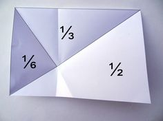 Folding fractions with A4 paper