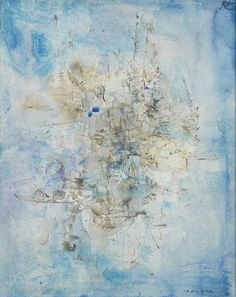 Zao Wou-Ki 'Untitled,' 1956, Watercolor on paper, Signed and dated '56' lower right, 40.5 x 33 cm