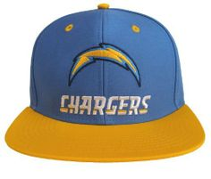 7686090d927 San Diego Chargers Retro Name   Logo Snapback Cap Hat Blue Yellow NFL.  8.99