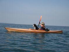 Kayaking on Lake Superior at Lake Superior Ontario Provincial Park with my boy.