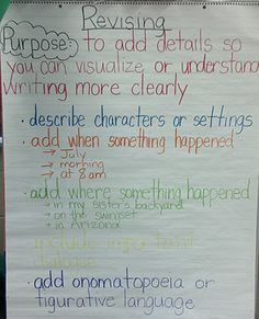 Miss B, Busy Bee: Writing Anchor Charts