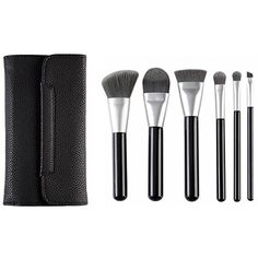 CLOTHOBEAUTY Charcoal Fiber Cosmetics Brush Set with Bag, 6 Pieces ** You can find out more details at the link of the image. (This is an affiliate link) #MakeupBrushesTools