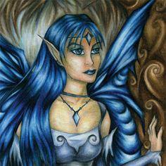 Ice Fairy Princess - Winter Art Magnet - Frozen Forest. $3.00, via Etsy.