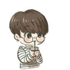 Jungkook Bts Cute Chibi - Bts Chibi Drawing Easy drawings for boys Boy Cartoon Drawing, Boy Hair Drawing, Boy And Girl Drawing, Cute Cartoon Boy, Girl Drawing Sketches, Easy Cartoon Drawings, Anime Girl Drawings, Cartoon Kunst, Cute Kawaii Drawings