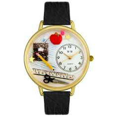 Whimsical Unisex Teacher Black Skin Leather Watch by Whimsical Watches. $38.50. The Whimsical Watches Story                Whimsical Watches are unique hand crafted gifts made for any occasion. Our 700+ product line includes one-of-a-kind watches showcasing your favorite animals, sports, hobby, profession, music and much more.This unique gift idea is perfect for birthdays, special occasions, holidays or just letting someone know you care. Each watch contains three dimensional han...