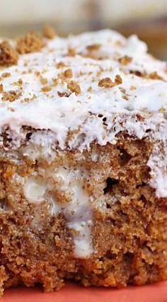 Gingerbread Caramel Poke Cake