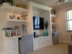 Homework stations and entertainment center for would-be children and tech savvy hubby. #wishlist