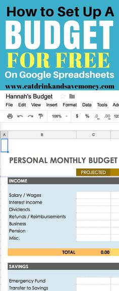 Monthly Budget Spreadsheet, Household Money Tracker, Microsoft Excel - Free Online Spreadsheet Templates