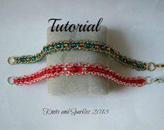 TUTORIAL Micro Macrame and Chain Bracelet
