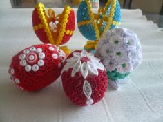 Types Of Craft, Paper Quilling, Fun Projects, Paper Flowers, Crocheting, Origami, Card Making, Objects, Eggs
