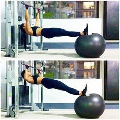 Pull-ups with a ball   challenge your core and upper body