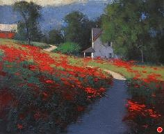 Poppies by Romona Youngquist Oil ~ 16 x 20