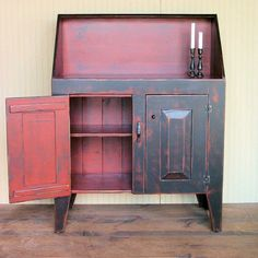 Delicieux Deenau0027s Save Of High Back Dry Sink   Handmade To Order   Black On Red On. Distressed  FurnitureRefinished ...