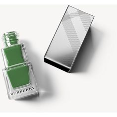 Burberry Nail Polish - Sage Green No.420 ($22) ❤ liked on Polyvore featuring beauty products, nail care, nail polish, shiny nail polish, burberry, formaldehyde free nail polish and burberry nail polish