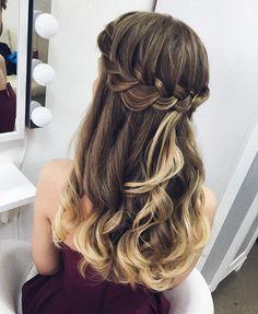 Pretty Dutch braid hair down inspiration | #braids #crownbraids #updo #hairdown #hairstyles #weddinghair #dutchbraidhairideas