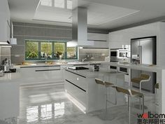 White High Gloss Lacquer Kitchen Cabinet Photos & Pictures
