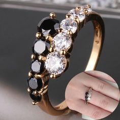 Cheap ring dealer, Buy Quality ring packaging directly from China ring bead Suppliers:                      Best Gift Jewelry 2015 18K Gold Filled Rings White&Black Engagement Wedding Rings For