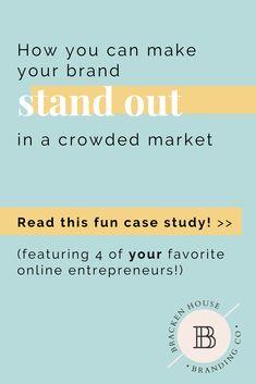 How to Stand Out in a Crowded Market - Bracken House Branding Co. Logo Branding, Branding Ideas, Business Branding, Business Design, Business Tips, Boutique Logo, Simple Website Design, Web Design Tips, Freelance Designer
