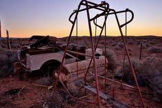 Junkyard at Dusk in the Flinders Rangers  SA - Flinders Rangers