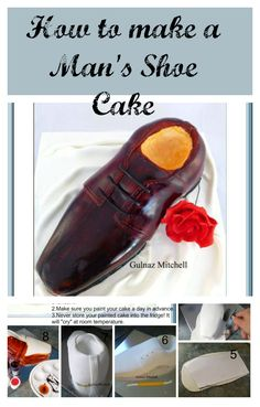 A Mans Shoe Cake is a perfect gift cake for a guy. The best would be to use his favorite shoe as a model. Gulnaz has given us a little tutorial  here so we can use as a guide to our next Shoe Cake