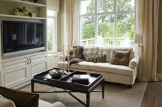 #16 #Home #Decoration #Tips Position your couch under an oversized window so that the sunlight and the outdoor scene becomes the focal point of an otherwise #neutralroom.