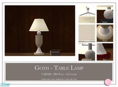 DOT's Goth Table Lamp