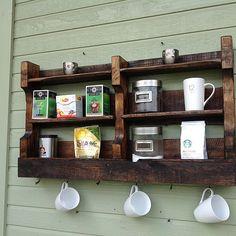 Pinterest Worthy: Designing with Pallets – wine rack – Coffee Tea Rack love