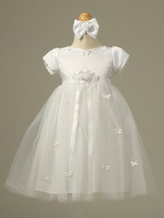 Christening Gown 'Lola' | Scallops, Dresses for girls and Sleeve