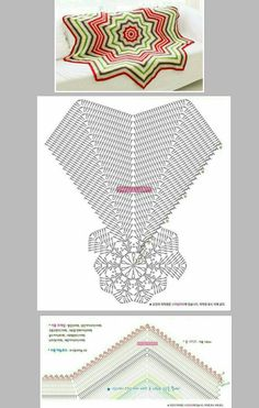 Chevron Crochet Patterns, Crochet Bikini Pattern, Crochet Mandala Pattern, Crochet Circles, Crochet Motifs, Crochet Diagram, Crochet Chart, Thread Crochet, Crochet Squares Afghan