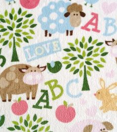 Ultra Fluffy Fabric- Fabric ABC Animal