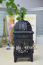 Min order$20(mixed items) Wedding gift wedding lantern iron candle Holder house and shop decoration iron artcraft black(China (Mainland))