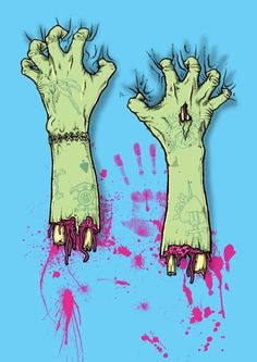 40 Insanely Cool Zombie Drawings and Sketches,For as long as I remember, I had a constant battle with my fear of zombies. Zombies are frightening dead creatures living for eating the brain. Zombie Kunst, Art Zombie, Zombie Girl, Zombie Drawings, Art Drawings, Arte Horror, Horror Art, Illustrations, Illustration Art