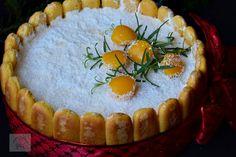 Tort diplomat cu piersici din compot - CAIETUL CU RETETE Camembert Cheese, Dairy, Pie, Desserts, Torte, Tailgate Desserts, Cake, Deserts, Fruit Cakes