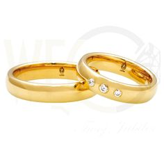 Obrączki ślubne ze złota/ Wedding rings made from yellow gold/ 3 698 PLN  #jewellery #gold #wedding #weddingrings