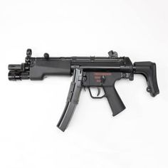 HECKLER AND KOCH MP5A3 9mm 30rd SUB-MACHINE GUN: First created in 1964, this sub-machine gun was developed as a pistol-caliber, blowback operated roller-locked member of the Heckler and Koch weapons system. Is still considered the preeminent sub-machine gun in the world after nearly four decades of use.