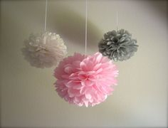 Cute accents for grey and pink room!