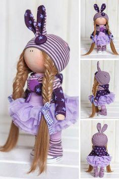 Bunny doll Cloth doll Fabric doll Interior от AnnKirillartPlace