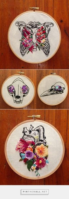 Floral Anatomy Embroideries by InherentlyRandom | Colossal - created via https://pinthemall.net