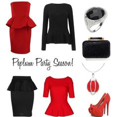 """Peplum Party Season"" by kit-heath on Polyvore"